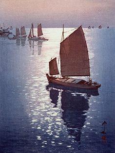 "Japanese Art Print ""Calm Wind"" by Yoshida Hiroshi. Shin Hanga and Art Reproductions http://www.amazon.com/dp/B00VCFOMJC/ref=cm_sw_r_pi_dp_VdVuwb15NJ4TV"
