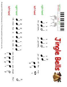 kids piano jingle bells | Christmas Piano Sheet Music for Kids