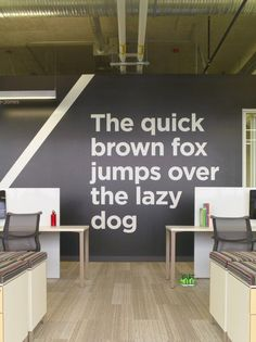 Inside Adobe's New Utah Campus - interesting use of typo on the wall
