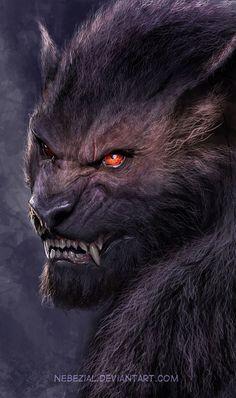 Werewolf Art by Nebezial @ deviantart