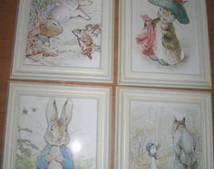 Vintage Beatrix Potter Growth Chart for nursery. by GraceYourNest