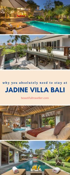 Why you absolutely MUST stay at Jadine Villa Bali #bali #indonesia #travel #travelblog #asia #canggu #villa
