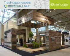 The point of having a booth at Greenbuild is to attract attention, and like with everything else, design matters. I immediately fell in love with the Kohler booth; In some ways it is so 2005 green, with its recycled materials