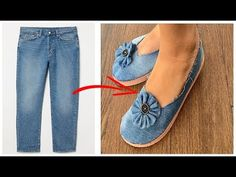 Diy Jeans, Reuse Recycle, Recycling, Diy Crafts Tv, Sleeves Designs For Dresses, Denim Ideas, Recycled Fashion, Crochet Shoes, Denim Bag