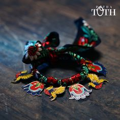 Bracelet from Slovakian Epopee 2 collection by Petra Toth Jewellery. Petra, Design Inspiration, Charmed, Jewels, Bracelets, Floral, Creative, How To Make, Folklore