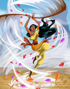 Pocahontas the Airbender. Posted by Jordan D'Amico (image credit Robby Cook) on recentlyheard.com.