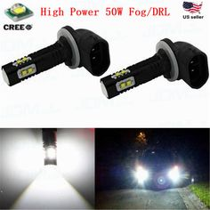 18W 1200LM LED Light Bar Work Spot Fog DRL Lamp Offroad  Boat UTE Car Truck Jeep #JDMASTARaftermarket881889fogDRLlampupgrade