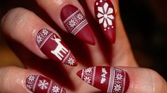24 Gelnägel Muster - Weihnachten auf den Nägeln