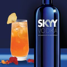 PUMPKIN SPICE 2 oz. SKYY Infusions Ginger  0.5 oz. Lime Juice  1 oz. Pumpkin Puree  Splash of Honey Water*  Slice of Fresh Ginger   Combine all ingredients except ginger slice in a cocktail shaker with ice and shake vigorously. Strain over fresh ice into a Collins glass. Add long slice of ginger into glass lengthwise for garnish.