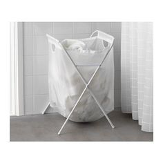 JÄLL Laundry bag with stand  - IKEA You could squeeze two of these between the wall and the machines