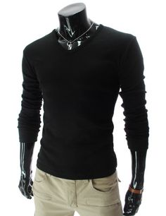 I LOVE THIS!         TheLees (CA14) Mens Casual Slim Fit V-neck Long Sleeve Tshirts $11.99 #topseller