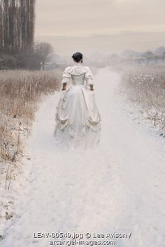 Modern fairytale/karen cox. Fairy tale fashion fantasy in white. © Lee Avison / Arcangel Images