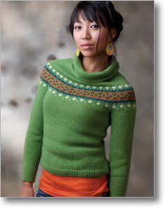 Recently completed version of Paper Dolls sweater, with recharted ...