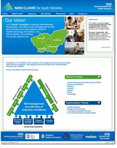 Web design for NHS Research in South Yorkshire