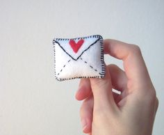This is a cute handmade felt envelope brooch with a heart stitched on. A lovely valentines gift! Who could resist tiny post! It has a metal brooch back securely sewn to its rear so can be pinned to you whe. Diy For Kids, Crafts For Kids, Craft Club, Handmade Felt, My Stamp, Love Letters, Valentine Gifts, Easy Diy, Brooch