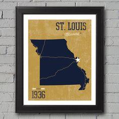 St. Louis Rams Print -- University Prints on Etsy, $12.00