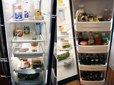 How to clean and organize a refrigerator!
