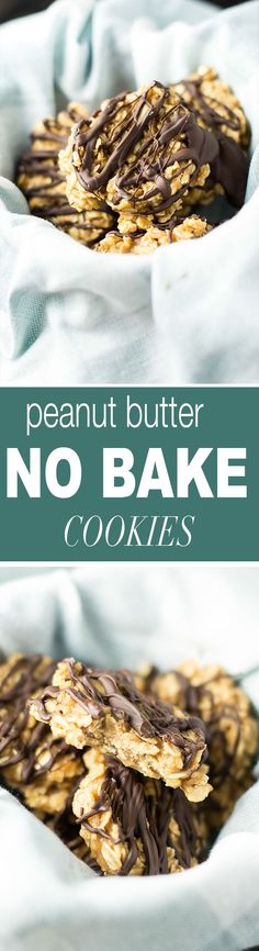Healthy peanut butter no bake cookies made with maple syrup, protein powder, and coconut oil. A healthy twist on a classic favorite dessert! recipe via @buildyourbite
