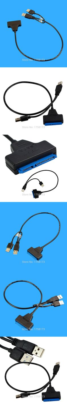 """1Pcs Black Light Pin Adapter Cable USB 2.0 to SATA 7+15 Pin 22 For 2.5"""" HDD Hard Disk Drive With USB Power Cable DropShipping"""
