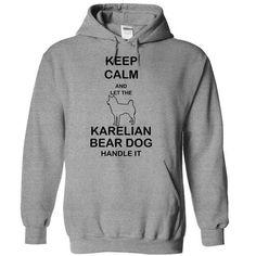Keep calm and let the KARELIAN BEAR DOG handle it T Shirts, Hoodies. Check price ==► https://www.sunfrog.com/Pets/Keep-calm-and-let-the-KARELIAN-BEAR-DOG-handle-it-shywq-SportsGrey-5867715-Hoodie.html?41382 $34