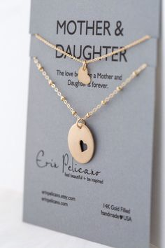 A personal favorite from my Etsy shop https://www.etsy.com/listing/155412823/mom-gift-mother-daughter-necklace-set