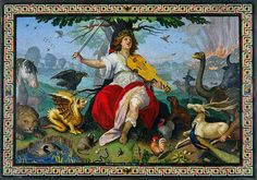 Orpheus, 1618, mosaic by Marcello Provenzale.