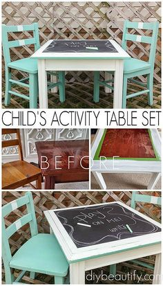 Create an activity set from mismatched pieces | diy beautify #refurbishedfurniture