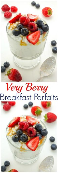 Very Berry Breakfast Parfaits