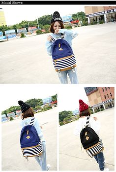 2016 Fashion Hot Backpack High Quality Canvas Preppy School Bag Backpacks for Teenage Girl Striped European Style Mochilas WL016  http://playertronics.com/products/2016-fashion-hot-backpack-high-quality-canvas-preppy-school-bag-backpacks-for-teenage-girl-striped-european-style-mochilas-wl016/