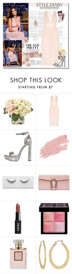 """""""Shay in pink"""" by mery90 ❤ liked on Polyvore featuring INC International Concepts, River Island, Jane Iredale, Gucci, Givenchy, Chanel and Fragments"""