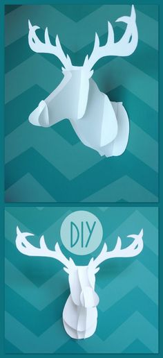 "truebluemeandyou: "" DIY Cardstock Deer Head with Free Templates from Know and Tell Crafts here. And you can bet I'm downloading the templates and instructions now because I don't want to see them gone..."