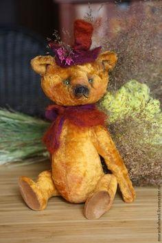 Мандарин (23см) (мишки тедди) - антикварный плюш,любимый,интерьерная игрушка