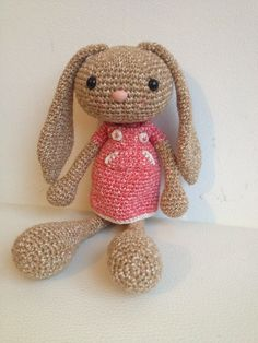 Troetels en zo: cute bunny. Dutch pattern and link to English pattern