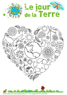 Earth Day Coloring Pages Earth Day Coloring Pages, Colouring Pages, Earth Day Crafts, Earth Hour, Earth Day Activities, Environment Day, French Classroom, French Immersion, Teaching French