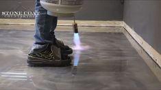 Epoxy flooring Stone Coat Countertops stonecoatcountertops Amazing epoxy projects Metallic Epoxy Flooring how-to! Learn how to repair cracks and coat your concrete with DIY Epoxy Flooring from Ston Epoxy Floor Diy, Epoxy Concrete Floor, Epoxy Resin Flooring, Metallic Epoxy Floor, Diy Epoxy, Diy Flooring, Concrete Countertops, Epoxy Floor Basement, Garage Epoxy