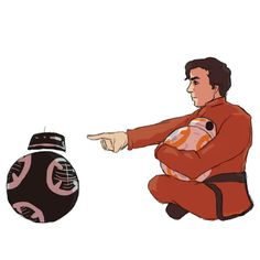 There's nothing cuter than Poe protecting his child BB-8 from evil BB-H8