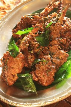 Indian Kari Chops Masala...mutton with curry leaves & masalas.