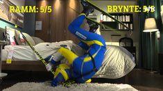 Skistafett på IKEA