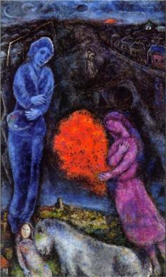 Saint-Paul de Vance at Sunset - Marc Chagall