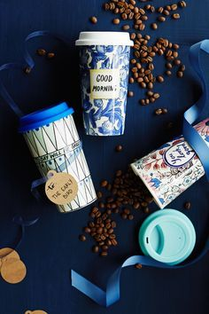 For All: Molly Hatch travel mugs @Athropologie