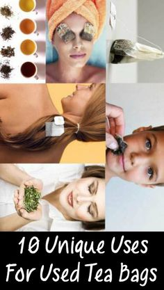10 Unique Uses For Used Tea Bags ~ http://positivemed.com/2014/11/06/10-unusual-uses-tea-bags/