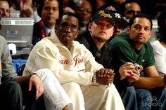 P. Diddy, Leonardo Dicaprio Nba Allstar Game Staples Center, Los Angeles, CA, USA, Photo By:alec Michael/Globe Photos Inc. 2004