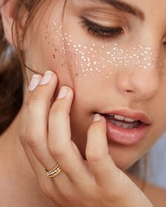 faux metallic freckles