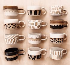 Loving these funky ceramic mugs from via 💛 . - Tableware Pin - Loving these funky ceramic mugs from via 💛 . Pottery Painting Designs, Pottery Designs, Pottery Ideas, Ceramic Plates, Ceramic Pottery, Ceramics Pottery Mugs, Pottery Bowls, Ceramic Painting, Ceramic Art