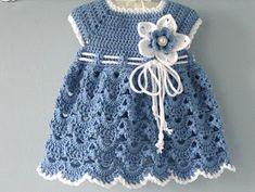 Crochet Baby Dress Pattern, Baby Girl Crochet, Crochet Baby Clothes, Newborn Crochet, Crochet Baby Dresses, Baby Girl Patterns, Baby Clothes Patterns, Baby Knitting Patterns, Crochet Patterns