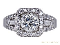 GIA 1.02 CT Round Cut Halo Ring Sold at Auction for $2,610