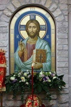 Christian Paintings, Christian Artwork, Religious Icons, Religious Art, Good Shepard, Gold Leaf Art, Christ The King, Byzantine Icons, Holy Mary