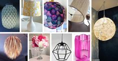 DIY lamps and lamp shades can change the look and feel of a room and brighten up your space. Find the best ideas and designs! Rustic Kitchen Lighting, Rustic Lamps, Easy Diy Crafts, Diy Crafts To Sell, Eclectic Floor Lamps, Homemade Lamps, White Lamp Shade, Lamp Shades, Cheap Wall Decor