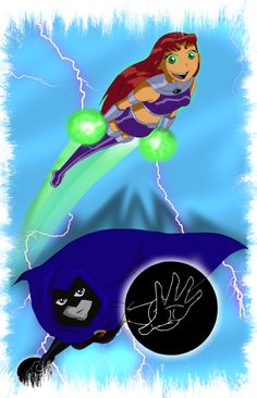 Sooper girls by on DeviantArt Teen Titans Starfire, Starfire And Raven, Teen Titans Go, Fight With Best Friend, Robin, Comic Villains, Cartoon Profile Pics, Beast Boy, Animated Cartoons