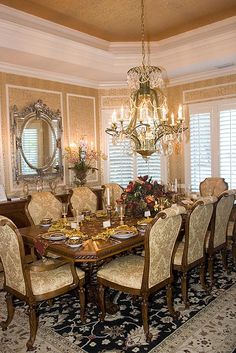 Captivating French Provincial Dining Room